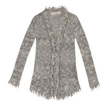灰色混纺针织衫