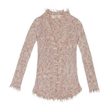 米色混纺针织衫