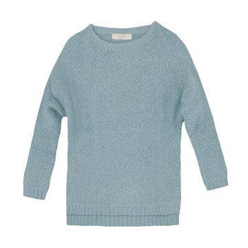 蓝色羊毛针织衫