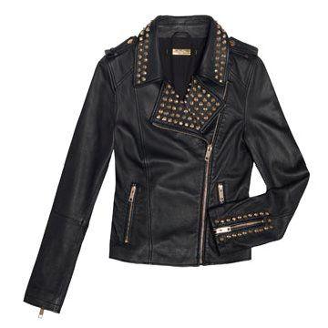 黑色皮革外套
