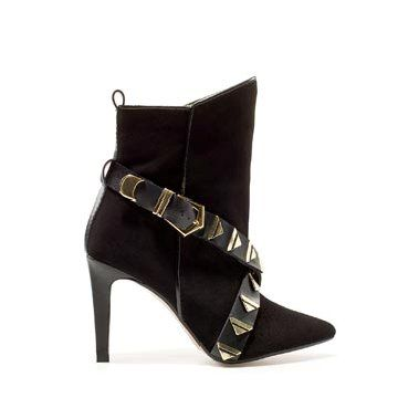 黑色麂皮短靴