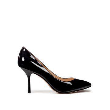 黑色漆皮中跟鞋