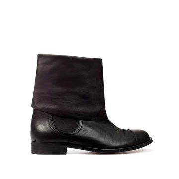 黑色牛皮长靴