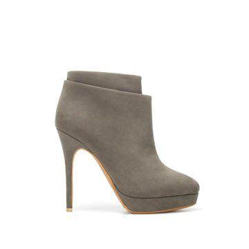 灰色涤纶短靴