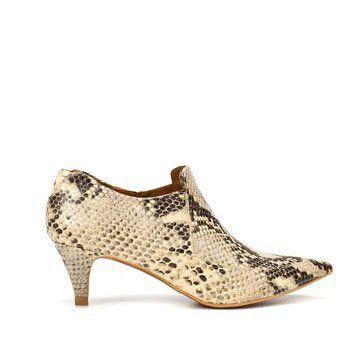 蟒蛇纹羊皮短靴