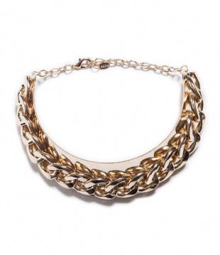 特长链饰金色镶饰颈链